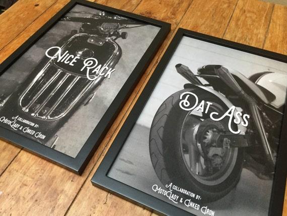 "MotoLady + Inked Iron ""Dat Axx, Nice Rack"" Print Set"