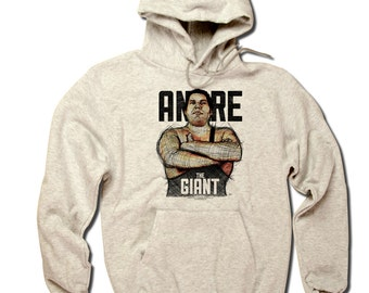Andre Roussimoff Pro Wrestling Officially Licensed Hoodie S-3XL Andre the Giant Sketch B