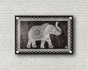 Elephant Totem Archival Quality Fine Art Print: Color Options, Elephant Spirit Animal, 11x17''