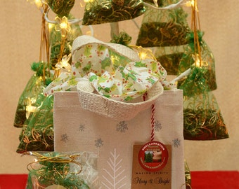 FRESH MAINE Balsam Sachets* (6) In One ECO-Canvas Holiday Gift Bag* Scent your Home with Balsam Fir** Fresh from the Maine Woods**