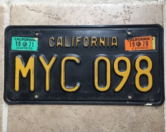 1970 California Automobile Transportation License Plate
