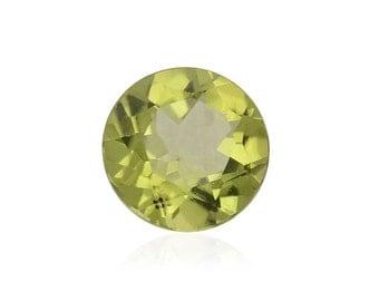 Hebei Peridot Loose Gemstone Round Cut 1A Quality 7mm TGW 1.15 cts.