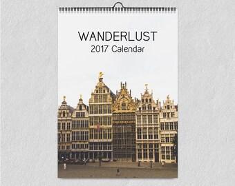 2018 Calendar, Wanderlust, Wall Calendar, Travel Photography, Europe