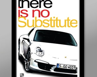 Porsche - There Is No Substitute - German Version - Poster 206 - Home Decor