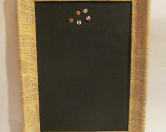 Vintage Picture Frame Made Into a Bulletin Board Cork Board Memo Board Message Board