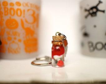 Bloody heart in a bottle keychain (Halloween exclusive)