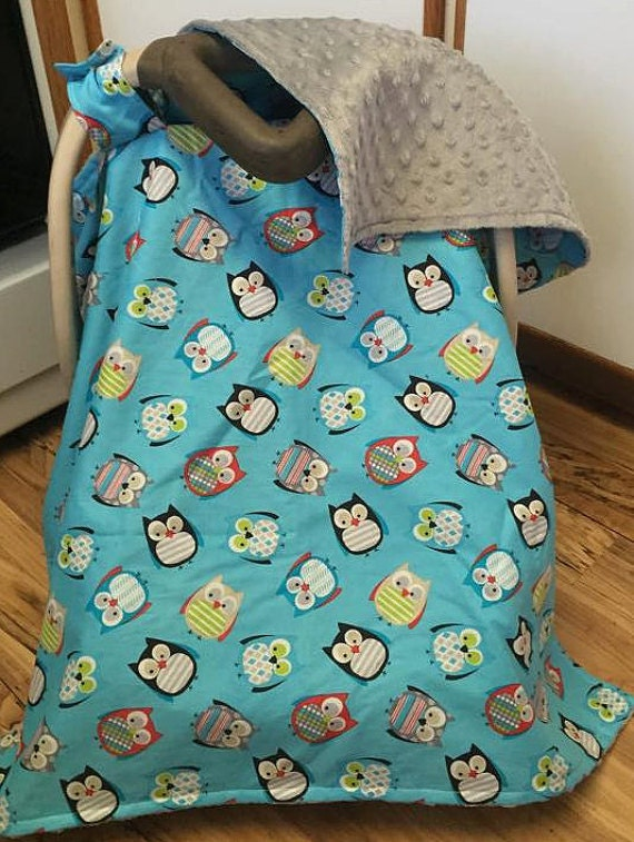 owl car seat canopy baby cover by sewsweetbabydesigns on etsy. Black Bedroom Furniture Sets. Home Design Ideas