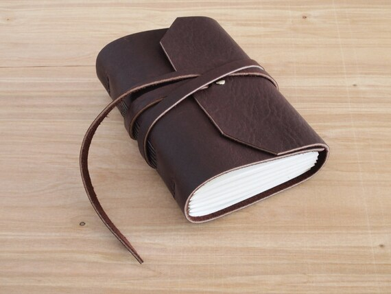 Morrison - 4X6 Dark Brown, Handmade Leather Journal