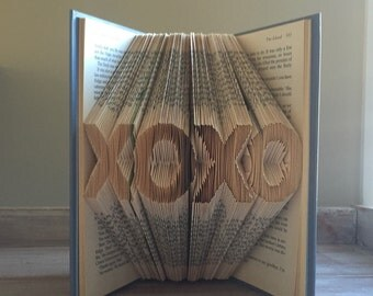 XOXO - Love - Folded Book Art