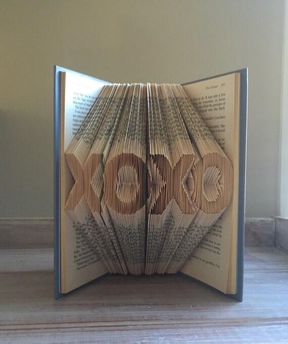 XOXO - Love - Folded Book Art