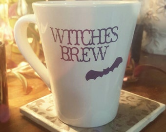 Witches Brew Coffee Mug -- Year-round Halloween Decor!