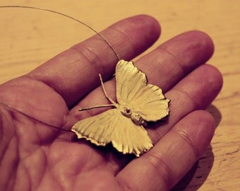 """Beautiful Golden Butterfly necklace, 50 cm/19,5 """""""