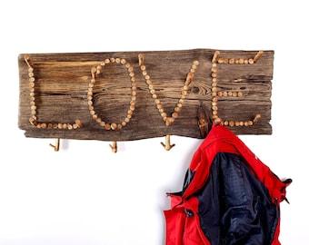 Coat rack, Wooden coat rack, Driftwood coat hanger, Handmade coat hanger, Handcrafted rustic coat hanger, Recycled home decor, Wall Decor