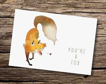 Fox Card - Fox Greeting Card