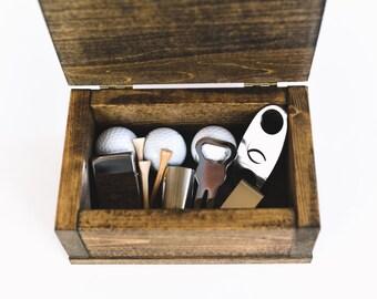 Best Gift For Any Golfer, Golf Gift Box, Handmade wooden box, best golf gift, gift for a golfer