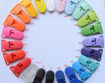 10pcs 20mm Plastic /Clip/Clasp For Pacifier soother