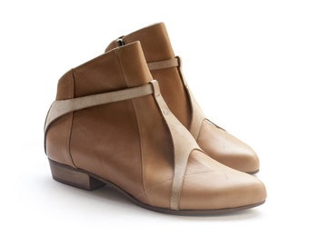 Sale 40% off! Women's shoes, Camel boots. Brown boots by Liebling. Women boots, handmade leather shoes. Jaimmy model.