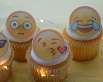 Emoji Cupcake Topper, precut, Edible image,  cupcake topper,