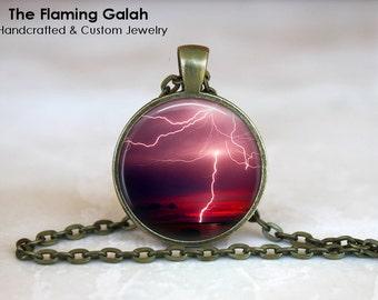 LIGHTENING STRIKE Pendant. Spectacular Lightening Bolt.  Necklace / Pendant / Key Ring. Handmade in Australia (P0341) ** Free Shipping **