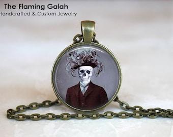 SKELETON Pendant •  Steampunk •  Anatomical Gothic • Gift Under 20 • Made in Australia (P1140)
