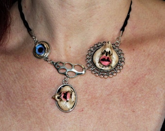 "Face doll OOAK collection ""barroco"" Gothic Choker necklace"