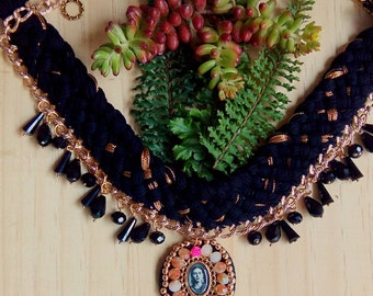 Bib with Medallion necklace