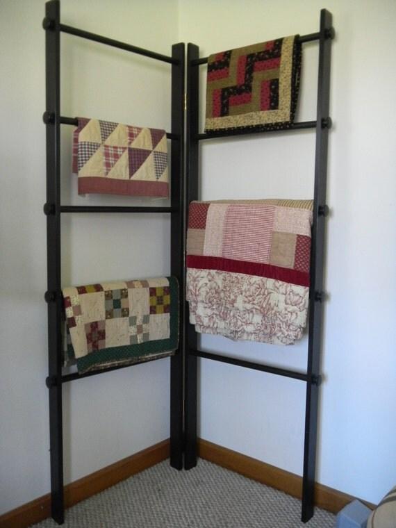 Large Corner Quilt Ladder Rack