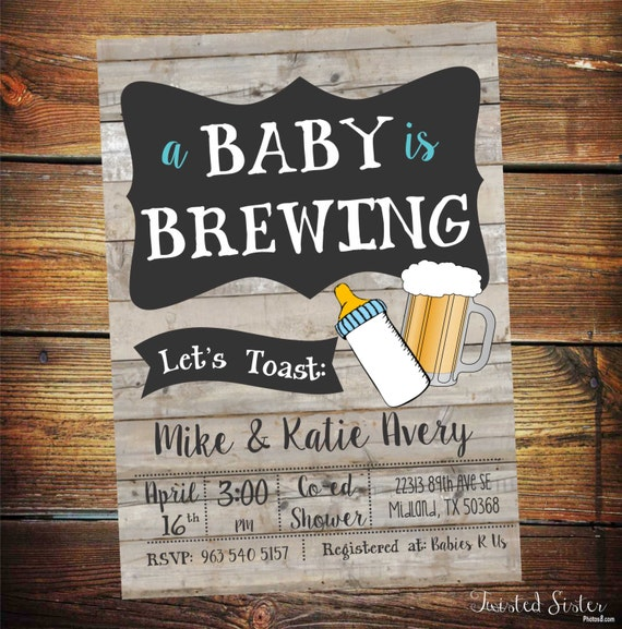 A Baby Is Brewing Invitation Beer Baby Shower Invitation