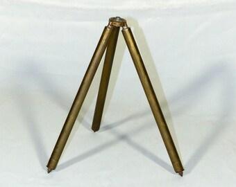 Vintage brass camera tripod
