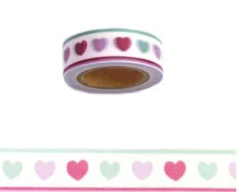 WASHISAMPLE cute hearts washi