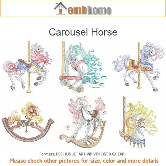 Carousel Horse Embroidery Designs