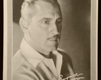 Original 1930's John Barrymore Movie Promo Publicity Photo Card, Black And White