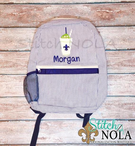 Snowball Backpack, Seersucker Diaper Bag, Seersucker School Bag, Seersucker Bag, Diaper Bag, School Bag, Book Bag, Backpack