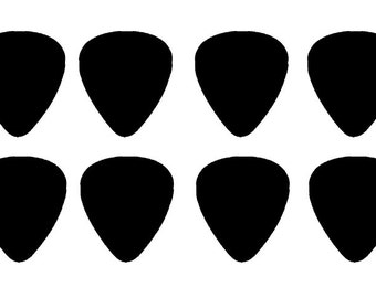 New Assorted Guitar Picks Made from Recycled Plastic Cards (Black Only)