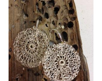 Hand Crocheted Wire Earrings