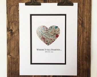 Where It All Started - Christmas Gift For Best Friends- Long Distance Friendship Relationship Gift- Moving Away or Going Away Present