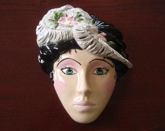 Ceramic Mardi Gras Face Mask Spanish Design Collecitble Wall Hanging Home décor a2620