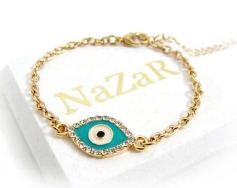Evil Eye Bracelet, Evil Eye Jewelry, Chain Bracelets, Charm Bracelets, Friendship Bracelets, Best Friend Bracelets, Best Friend Gifts, Gift