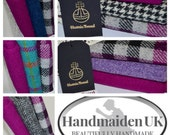 PINKS  RANGE Harris Tweed Fabric Bundles 100% Pure Virgin Wool