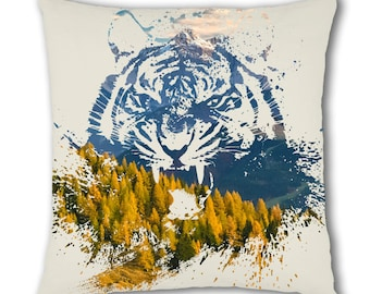 Nature Tiger Design Cushion Cover