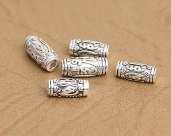 925 sterling silver om mani padme hum beads antique thai sterling silver spacer beads diy jewelry wholesale Y244