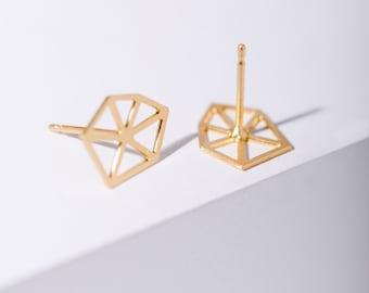 MIZYAN's geometric stud earrings, geometric accessories
