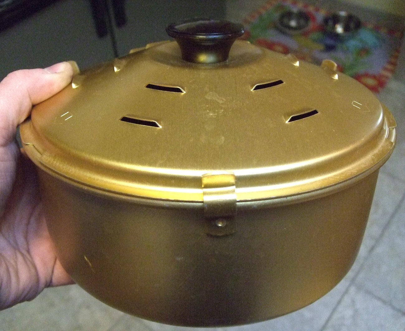 Vintage Rival Crock Pot Bread N Cake Bake Baking Pan For Slow