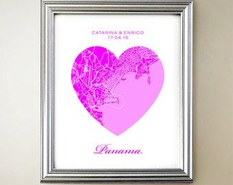 Panama Heart Map