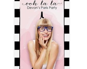 Paris, Ooh La La - Party Photo Booth Backdrop – Baby Shower, Birthday Party Decorations - Paris Prom Theme Decor