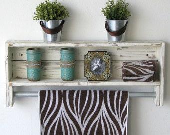 Reclaimed Towel Rack Shelf--3 Colors Available!!