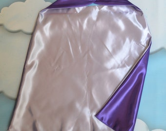 Cape. Plain Cape. Reversible Cape. Purple and Lavender Cape. Kids Cape. Quick Ship Cape.