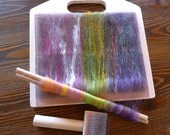 Blending board 94 tpi, making rolags, spinning and felting