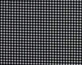 Tiny Gingham- CX4834-Black-D-  Black and White Tiny Gingham Checks- 1 yard