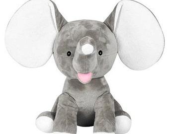 Personalized Grey Baby Elephant